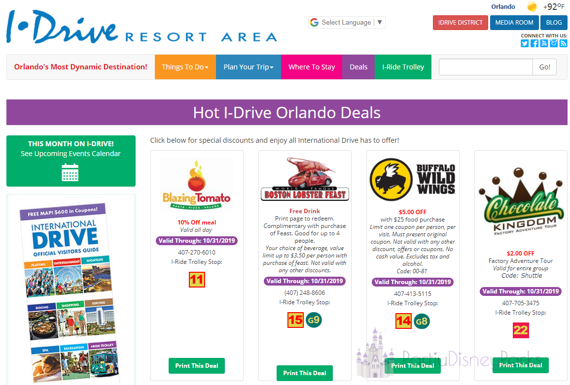 I Drive Orlando Discount Coupons